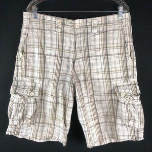 Levi's Denizen White Plaid Cargo Shorts